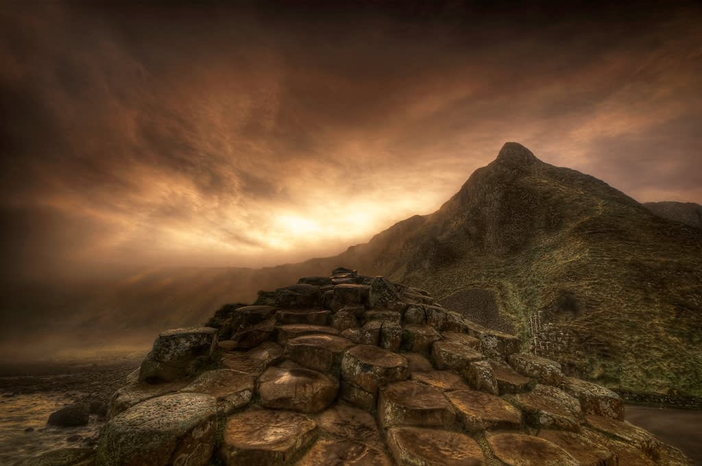 Steps to the Sun - The Giants Causeway - An example of Northern Ireland landscape photography.