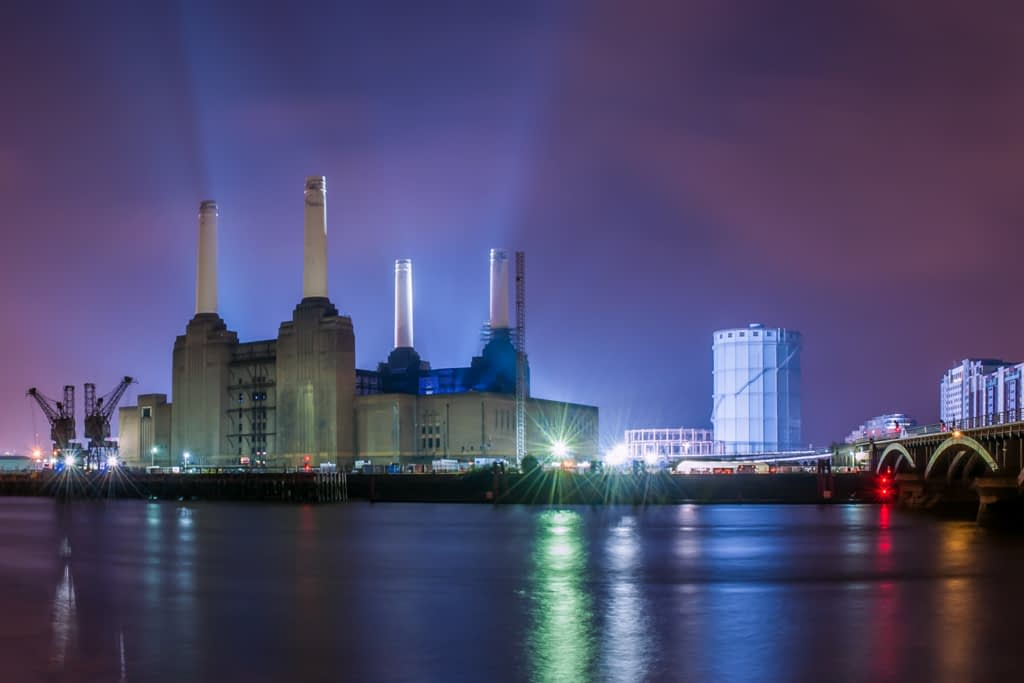 Night Photography of Battersea Power Station