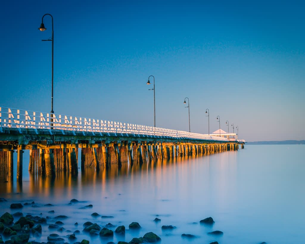 Shorncliffe Pier - This image was created using slow landscape photoraphy tips and techniques.