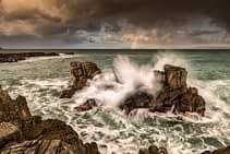 Pan's Rock to Rathlin - A seascape at Ballycastle, Northern Ireland.
